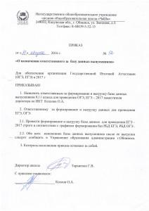 Приказ Козлова