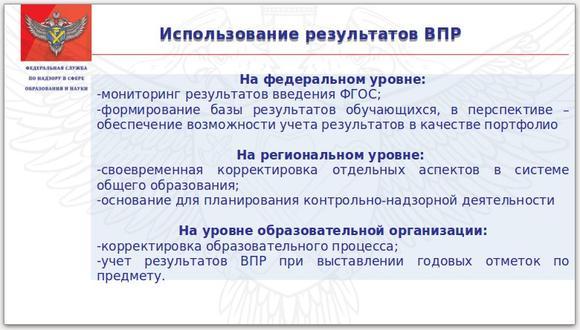Всероссийские проверочные работы 2018