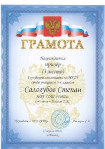 Грамота Салогубову