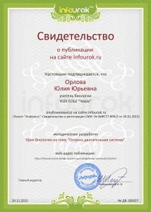 Свидетельство проекта infourok.ru №185637